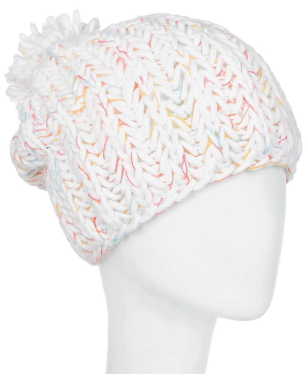 Шапка женская Roxy Nola, цвет: белый. ERJHA03088-WBB0. Размер универсальныйERJHA03088-WBB0Женская шапка выполнена из высококачественного материала. Подкладка из флиса Polar по краю.Крупная фактурная вязка.