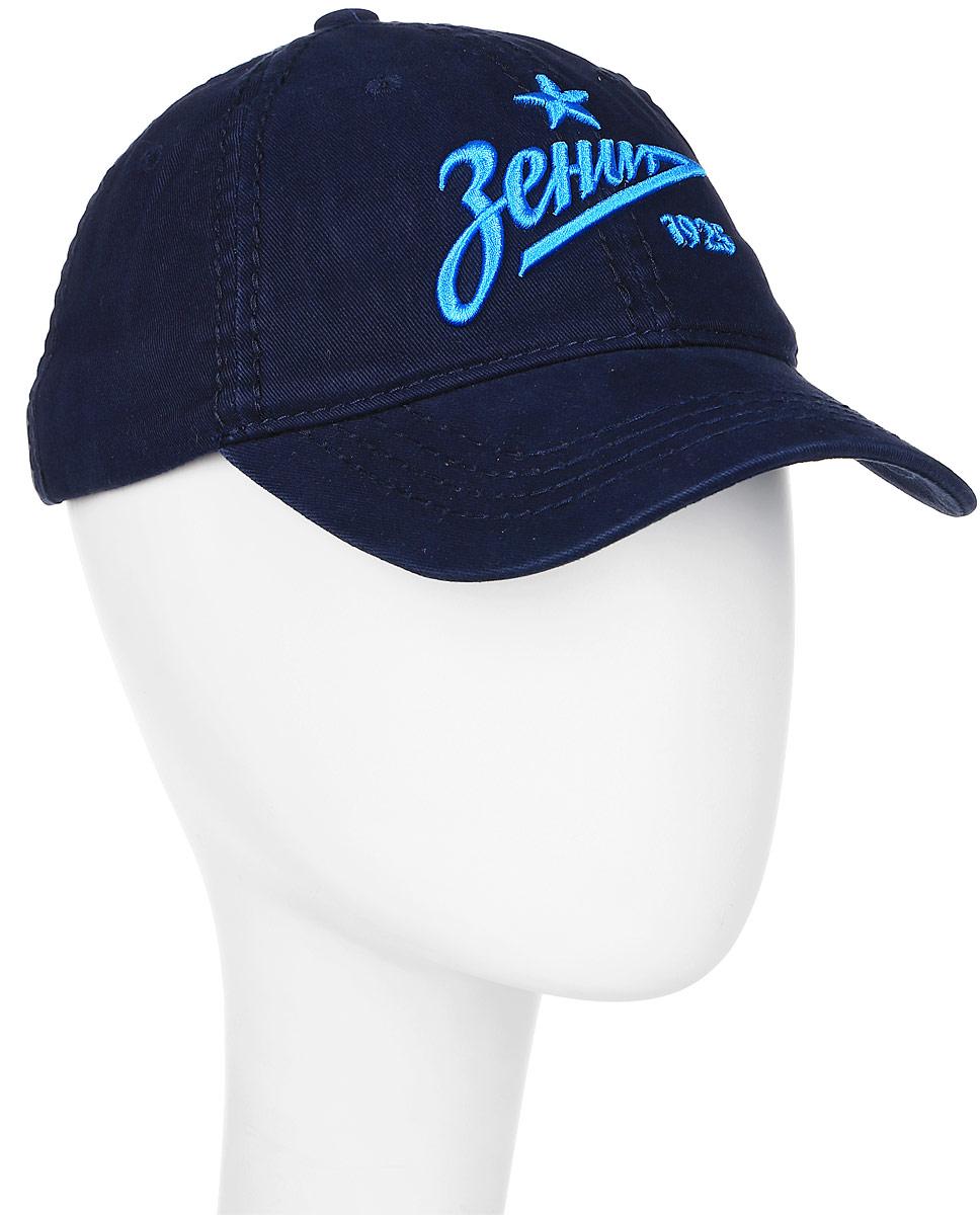 Бейсболка Зенит, цвет: синий. 10536. Размер L/XL (55-58)10536Стильная бейсболка Зенит в классическом стиле выполнена из 100% хлопка. Бейсболка спереди декорирована крупной вышитой надписью Зенит. На панелях расположены вентиляционных отверстия. Сзади бейсболка регулируется при помощи металлического фиксатора с гравировкой логотипа. Такая бейсболка послужит отличным аксессуаром для отдыха или занятий спортом.