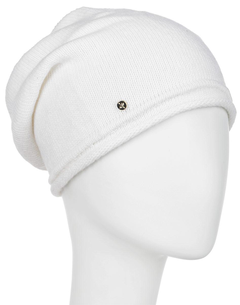 Шапка женская Canoe Divine, цвет: белый. 3442360. Размер 56/583442360Стильная женская шапка Canoe Divine отлично дополнит ваш образ в холодную погоду. Сочетание шерсти, кашемира и вискозы максимально сохраняет тепло и обеспечивает удобную посадку. Удлиненная шапка с эффектом необработанного края украшена металлической эмблемой с логотипом производителя. Такая модель комфортна и приятна на ощупь, она великолепно подчеркнет ваш вкус.Такая шапка станет отличным дополнением к вашему осеннему или зимнему гардеробу, в ней вам будет уютно и тепло!