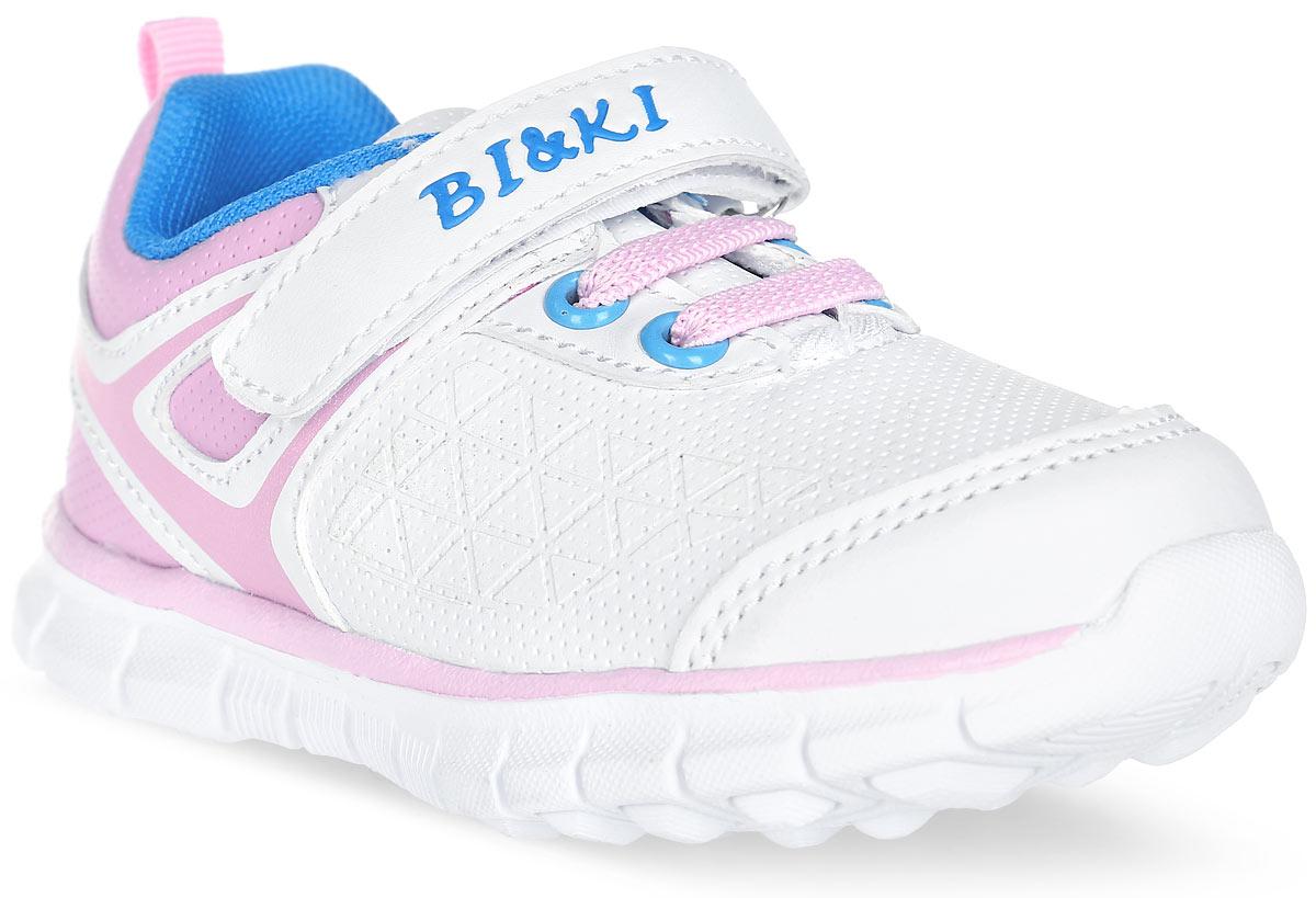 Кроссовки для девочки BiKi, цвет: белый, темно-синий, розовый A-B82-53-A. Размер 24A-B82-53-AЯркие кроссовки от фирмы BiKi придутся по душе юной моднице! Модель изготовлена из дышащего текстиля и искусственной кожи. На заднике предусмотрена текстильная петелька для удобства обувания. Ремешок на застежке-липучке и шнуровка надежно фиксируют изделие на ноге. Внутренняя отделка из текстиля и натуральной кожи обеспечивает комфорт при носке. Подошва с рифлением гарантирует отличное сцепление с любыми поверхностями. Стильные кроссовки займут достойное место в гардеробе вашей девочки.