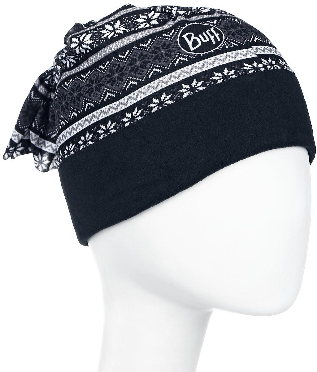 Бандана Buff Polar Active Snowflakes Black Polartec, цвет: черный. 101111/41855. Размер 53/62 см101111/41855Теплая бандана-шарф из серии Polar Buff. Polar Buff - это бандана-труба из серии Original Buff, пришитая к цилиндру из Polartec Classic Fleece 100. В холодную погоду Polar Buff поддерживает нормальную температуру тела и предотвращает потерю тепла, благодаря комбинации микрофибры и Polartec. Благодаря своей универсальности, функциональности и практичности Polar Buff завоевал огромную популярность среди людей, ее можно использовать как шапку, шарф, бандану на лицо и уши, балаклаву, маску. Неотъемлемая часть зимней одежды, подходит для любой активности в холодное время года.