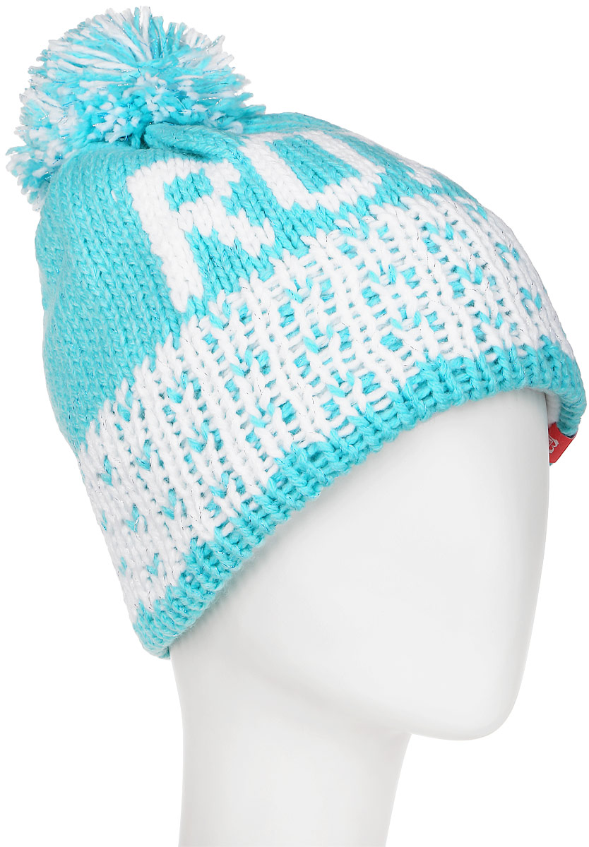 Шапка женская Roxy Fjord Beanie, цвет: бирюзовый. ERJHA03102-BGM0. Размер универсальныйERJHA03102-BGM0Женская шапка выполнена из высококачественного материала. Оформлена помпоном.