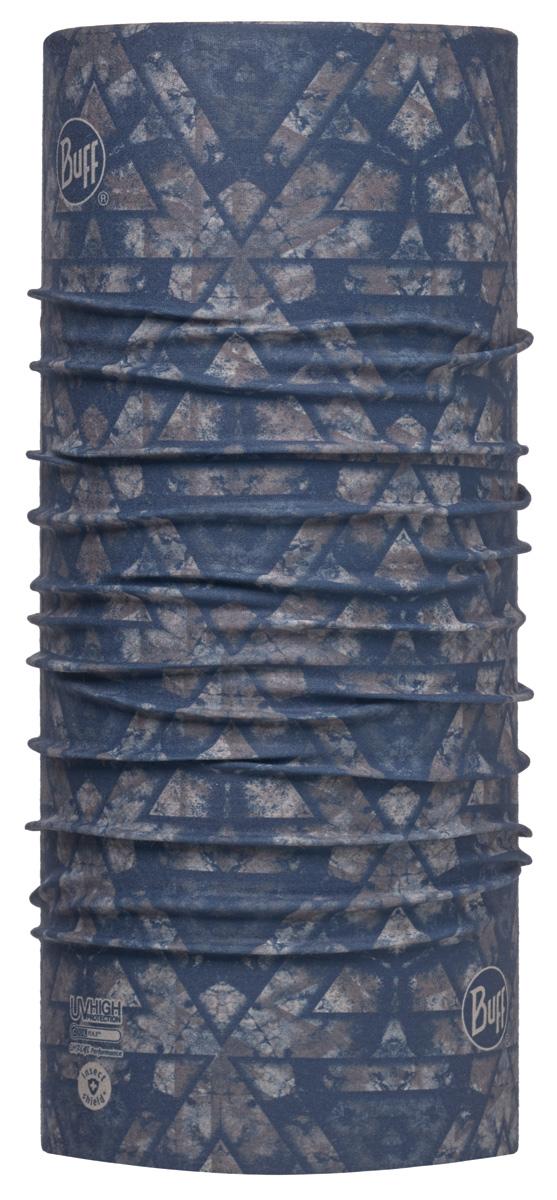 Бандана Buff High UV Inugami Blue, цвет: синий. 113638.707.10.00. Размер универсальный113638.707.10.00Buff - это оригинальные, мультифункциональные, бесшовные головные уборы - удобные и комфортные для любого вида активного отдыха и спорта. Оригинальные, потому что Buff был и является первым в мире брендом мультифункциональных, бесшовных и универсальных головных уборов. Мультифункциональные, потому что их можно носить самыми разными способами: как шарф, как шапку, как балаклаву, косынку, бандану, маску, напульсник и многими другими - решает Ваша фантазия! Универсальный головной убор, который можно носить более чем двенадцатью способами, который можно использовать при занятии любым видом спорта, езде на велосипеде и мотоцикле, катаясь или бегая на лыжах, и даже как аксессуар в городской одежде. Бесшовные, благодаря эластичности, позволяющей использовать эти головные уборы как угодно и не беспокоиться о том, что кожа может быть натерта или раздражена швами.