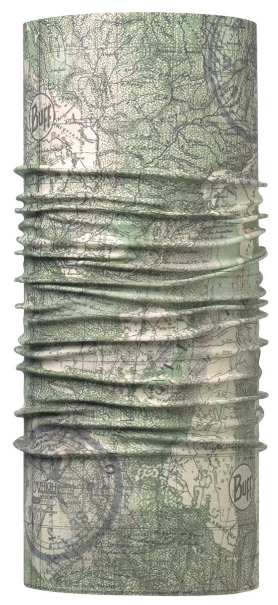 Бандана Buff High UV Kilauea Green, цвет: хаки. 113622.845.10.00. Размер универсальный113622.845.10.00Buff - это оригинальные, мультифункциональные, бесшовные головные уборы - удобные и комфортные для любого вида активного отдыха и спорта. Оригинальные, потому что Buff был и является первым в мире брендом мультифункциональных, бесшовных и универсальных головных уборов. Мультифункциональные, потому что их можно носить самыми разными способами: как шарф, как шапку, как балаклаву, косынку, бандану, маску, напульсник и многими другими - решает Ваша фантазия! Универсальный головной убор, который можно носить более чем двенадцатью способами, который можно использовать при занятии любым видом спорта, езде на велосипеде и мотоцикле, катаясь или бегая на лыжах, и даже как аксессуар в городской одежде. Бесшовные, благодаря эластичности, позволяющей использовать эти головные уборы как угодно и не беспокоиться о том, что кожа может быть натерта или раздражена швами.