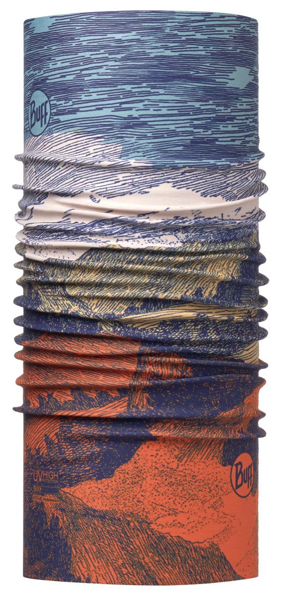 Бандана Buff High UV Landscape Multi, цвет: серый. 113623.555.10.00. Размер универсальный113623.555.10.00Buff - это оригинальные, мультифункциональные, бесшовные головные уборы - удобные и комфортные для любого вида активного отдыха и спорта. Оригинальные, потому что Buff был и является первым в мире брендом мультифункциональных, бесшовных и универсальных головных уборов. Мультифункциональные, потому что их можно носить самыми разными способами: как шарф, как шапку, как балаклаву, косынку, бандану, маску, напульсник и многими другими - решает Ваша фантазия! Универсальный головной убор, который можно носить более чем двенадцатью способами, который можно использовать при занятии любым видом спорта, езде на велосипеде и мотоцикле, катаясь или бегая на лыжах, и даже как аксессуар в городской одежде. Бесшовные, благодаря эластичности, позволяющей использовать эти головные уборы как угодно и не беспокоиться о том, что кожа может быть натерта или раздражена швами.