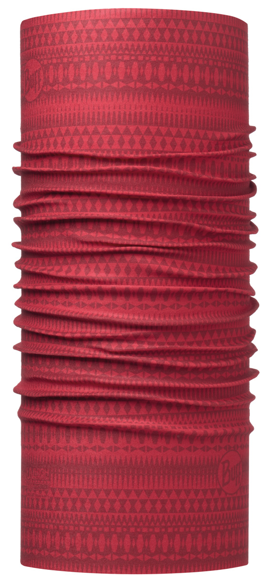 Бандана Buff High UV Portus Red, цвет: красный. 113625.425.10.00. Размер универсальный113625.425.10.00Buff - это оригинальные, мультифункциональные, бесшовные головные уборы - удобные и комфортные для любого вида активного отдыха и спорта. Оригинальные, потому что Buff был и является первым в мире брендом мультифункциональных, бесшовных и универсальных головных уборов. Мультифункциональные, потому что их можно носить самыми разными способами: как шарф, как шапку, как балаклаву, косынку, бандану, маску, напульсник и многими другими - решает Ваша фантазия! Универсальный головной убор, который можно носить более чем двенадцатью способами, который можно использовать при занятии любым видом спорта, езде на велосипеде и мотоцикле, катаясь или бегая на лыжах, и даже как аксессуар в городской одежде. Бесшовные, благодаря эластичности, позволяющей использовать эти головные уборы как угодно и не беспокоиться о том, что кожа может быть натерта или раздражена швами.