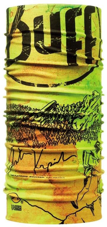 Бандана Buff High UV Protection Anton, цвет: желтый. 105870.00. Размер универсальный105870.00Buff - это оригинальные, мультифункциональные, бесшовные головные уборы - удобные и комфортные для любого вида активного отдыха и спорта. Оригинальные, потому что Buff был и является первым в мире брендом мультифункциональных, бесшовных и универсальных головных уборов. Мультифункциональные, потому что их можно носить самыми разными способами: как шарф, как шапку, как балаклаву, косынку, бандану, маску, напульсник и многими другими - решает Ваша фантазия! Универсальный головной убор, который можно носить более чем двенадцатью способами, который можно использовать при занятии любым видом спорта, езде на велосипеде и мотоцикле, катаясь или бегая на лыжах, и даже как аксессуар в городской одежде. Бесшовные, благодаря эластичности, позволяющей использовать эти головные уборы как угодно и не беспокоиться о том, что кожа может быть натерта или раздражена швами. Размер (обхват головы): 53-62 см.