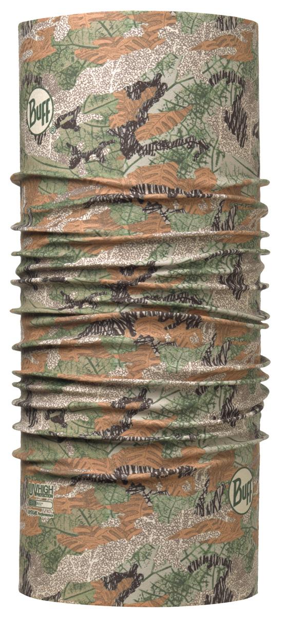 Бандана Buff High UV SaUVage Beech, цвет: хаки. 113626.844.10.00. Размер универсальный113626.844.10.00Buff - это оригинальные, мультифункциональные, бесшовные головные уборы - удобные и комфортные для любого вида активного отдыха и спорта. Оригинальные, потому что Buff был и является первым в мире брендом мультифункциональных, бесшовных и универсальных головных уборов. Мультифункциональные, потому что их можно носить самыми разными способами: как шарф, как шапку, как балаклаву, косынку, бандану, маску, напульсник и многими другими - решает Ваша фантазия! Универсальный головной убор, который можно носить более чем двенадцатью способами, который можно использовать при занятии любым видом спорта, езде на велосипеде и мотоцикле, катаясь или бегая на лыжах, и даже как аксессуар в городской одежде. Бесшовные, благодаря эластичности, позволяющей использовать эти головные уборы как угодно и не беспокоиться о том, что кожа может быть натерта или раздражена швами.