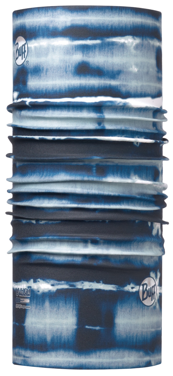Бандана Buff High UV Shibor Seaport Blue, цвет: синий. 113628.753.10.00. Размер универсальный113628.753.10.00Buff - это оригинальные, мультифункциональные, бесшовные головные уборы - удобные и комфортные для любого вида активного отдыха и спорта. Оригинальные, потому что Buff был и является первым в мире брендом мультифункциональных, бесшовных и универсальных головных уборов. Мультифункциональные, потому что их можно носить самыми разными способами: как шарф, как шапку, как балаклаву, косынку, бандану, маску, напульсник и многими другими - решает Ваша фантазия! Универсальный головной убор, который можно носить более чем двенадцатью способами, который можно использовать при занятии любым видом спорта, езде на велосипеде и мотоцикле, катаясь или бегая на лыжах, и даже как аксессуар в городской одежде. Бесшовные, благодаря эластичности, позволяющей использовать эти головные уборы как угодно и не беспокоиться о том, что кожа может быть натерта или раздражена швами.