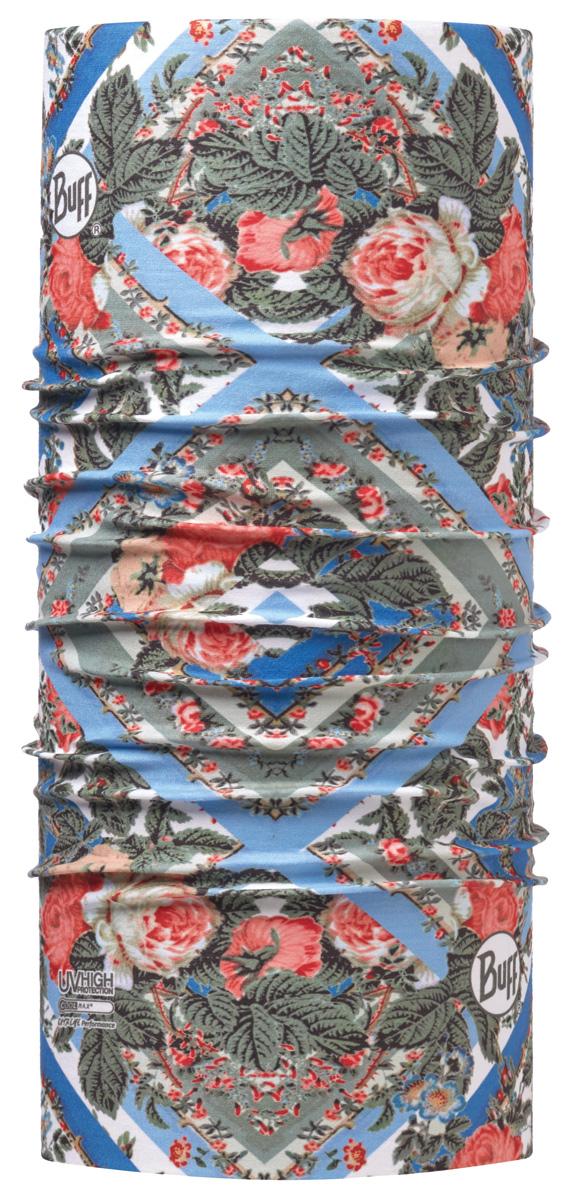Бандана Buff High UV Strip Roses Multi, цвет: зеленый. 113629.555.10.00. Размер универсальный113629.555.10.00Buff - это оригинальные, мультифункциональные, бесшовные головные уборы - удобные и комфортные для любого вида активного отдыха и спорта. Оригинальные, потому что Buff был и является первым в мире брендом мультифункциональных, бесшовных и универсальных головных уборов. Мультифункциональные, потому что их можно носить самыми разными способами: как шарф, как шапку, как балаклаву, косынку, бандану, маску, напульсник и многими другими - решает Ваша фантазия! Универсальный головной убор, который можно носить более чем двенадцатью способами, который можно использовать при занятии любым видом спорта, езде на велосипеде и мотоцикле, катаясь или бегая на лыжах, и даже как аксессуар в городской одежде. Бесшовные, благодаря эластичности, позволяющей использовать эти головные уборы как угодно и не беспокоиться о том, что кожа может быть натерта или раздражена швами.