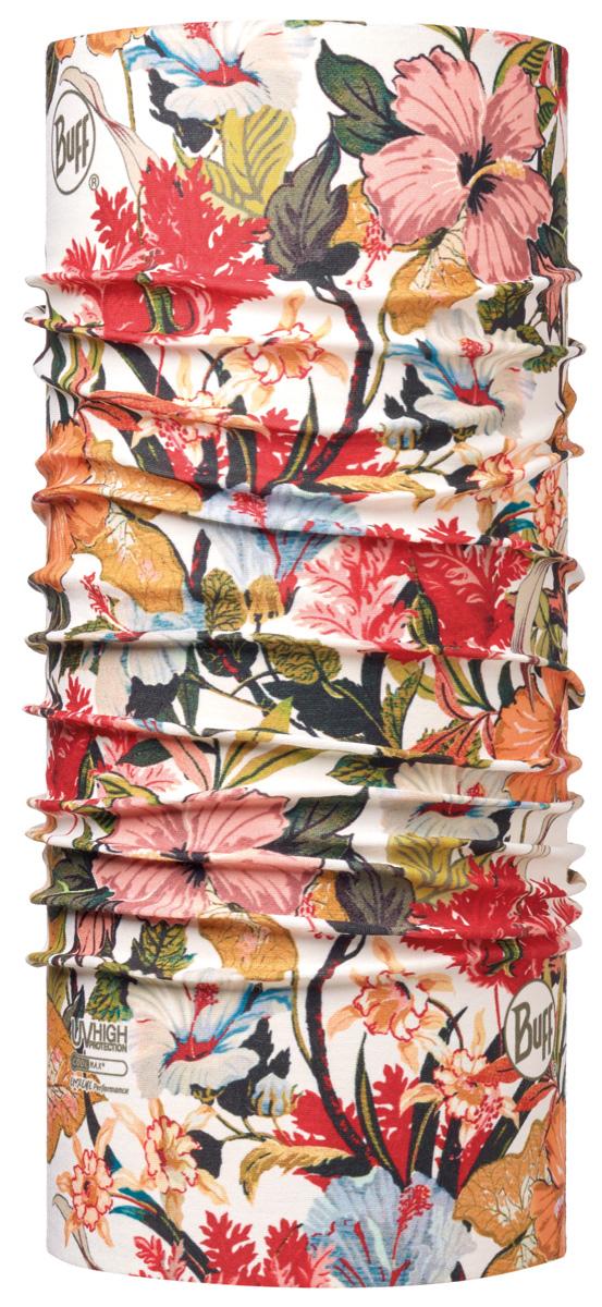 Бандана Buff High UV Tahiti Multi, цвет: розовый. 113631.555.10.00. Размер универсальный113631.555.10.00Buff - это оригинальные, мультифункциональные, бесшовные головные уборы - удобные и комфортные для любого вида активного отдыха и спорта. Оригинальные, потому что Buff был и является первым в мире брендом мультифункциональных, бесшовных и универсальных головных уборов. Мультифункциональные, потому что их можно носить самыми разными способами: как шарф, как шапку, как балаклаву, косынку, бандану, маску, напульсник и многими другими - решает Ваша фантазия! Универсальный головной убор, который можно носить более чем двенадцатью способами, который можно использовать при занятии любым видом спорта, езде на велосипеде и мотоцикле, катаясь или бегая на лыжах, и даже как аксессуар в городской одежде. Бесшовные, благодаря эластичности, позволяющей использовать эти головные уборы как угодно и не беспокоиться о том, что кожа может быть натерта или раздражена швами.
