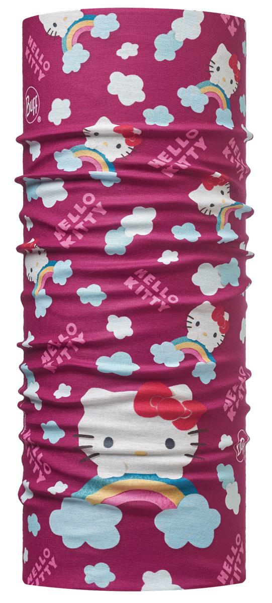 Бандана Buff Licenses Hello Kitty Jr Original Rainbow Purple, цвет: фиолетовый. 113202.605.10.00. Размер универсальный113202.605.10.00Buff - это оригинальные, мультифункциональные, бесшовные головные уборы - удобные и комфортные для любого вида активного отдыха и спорта. Оригинальные, потому что Buff был и является первым в мире брендом мультифункциональных, бесшовных и универсальных головных уборов. Мультифункциональные, потому что их можно носить самыми разными способами: как шарф, как шапку, как балаклаву, косынку, бандану, маску, напульсник и многими другими - решает Ваша фантазия! Универсальный головной убор, который можно носить более чем двенадцатью способами, который можно использовать при занятии любым видом спорта, езде на велосипеде и мотоцикле, катаясь или бегая на лыжах, и даже как аксессуар в городской одежде. Бесшовные, благодаря эластичности, позволяющей использовать эти головные уборы как угодно и не беспокоиться о том, что кожа может быть натерта или раздражена швами.