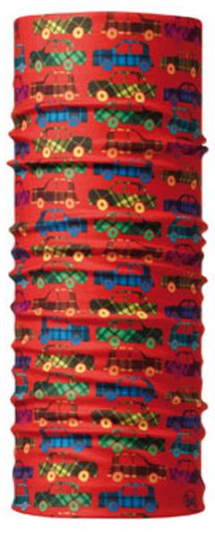 Бандана детская Buff Original Carz, цвет: красный. 30194. Размер универсальный30194Buff - это оригинальные, мультифункциональные, бесшовные головные уборы - удобные и комфортные для любого вида активного отдыха и спорта. Оригинальные, потому что Buff был и является первым в мире брендом мультифункциональных, бесшовных и универсальных головных уборов. Мультифункциональные, потому что их можно носить самыми разными способами: как шарф, как шапку, как балаклаву, косынку, бандану, маску, напульсник и многими другими - решает ваша фантазия! Универсальный головной убор, который можно носить более чем двенадцатью способами, который можно использовать при занятии любым видом спорта, езде на велосипеде и мотоцикле, катаясь или бегая на лыжах, и даже как аксессуар в городской одежде. Бесшовные, благодаря эластичности, позволяющей использовать эти головные уборы как угодно и не беспокоиться о том, что кожа может быть натерта или раздражена швами. Размер (обхват головы): 45-51 см.