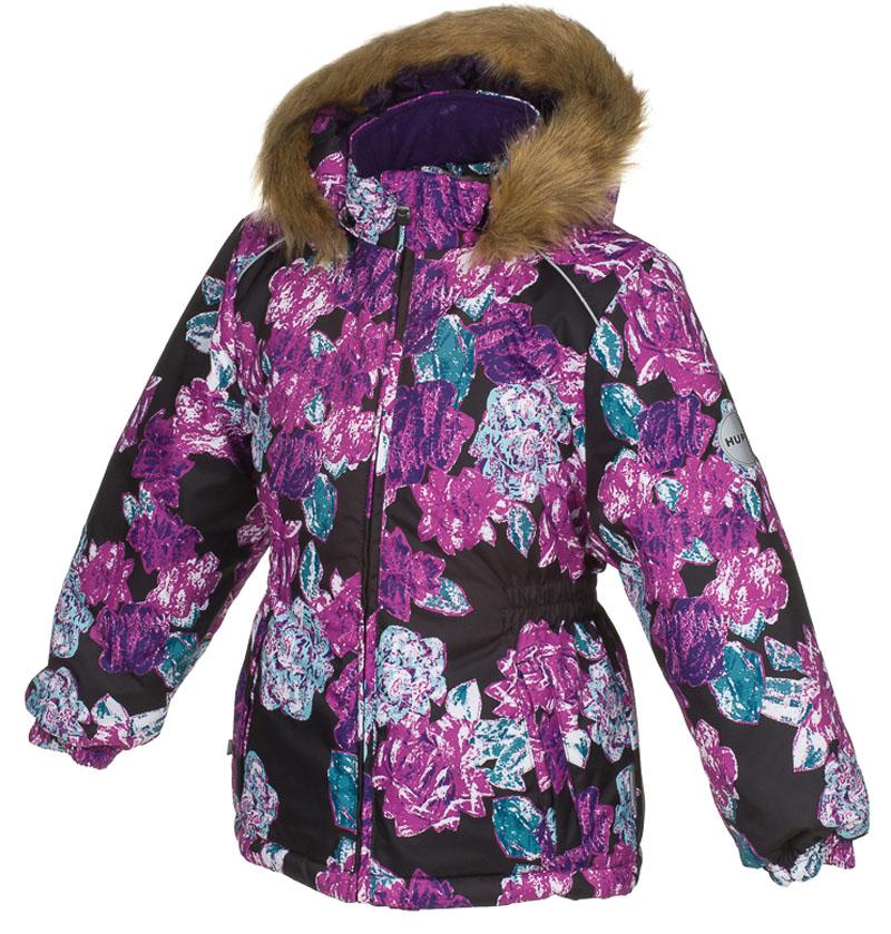 Куртка для девочки Huppa Marii, цвет: черный. 17830030-71509. Размер 13417830030-71509Теплая куртка для девочки Huppa идеально подойдет для ребенка в холодное время года. Куртка изготовлена из 100% полиэстера. Вес утеплителя - 300 г.Куртка с капюшоном застегивается на пластиковую застежку-молнию. Капюшон, декорированный мехом, защитит нежные щечки от ветра. Спереди расположены два прорезных кармашка. Оформлено изделие оригинальным принтом.Предусмотрены светоотражающие элементы для безопасности ребенка в темное время суток.