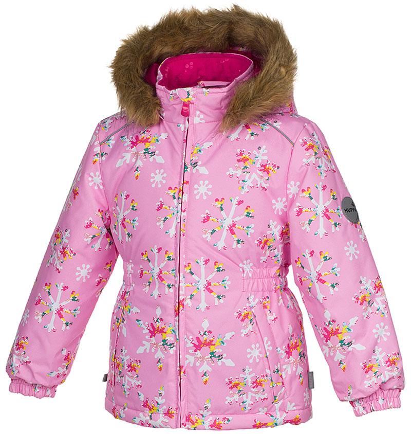 Куртка для девочки Huppa Marii, цвет: розовый. 17830030-71613. Размер 11617830030-71613Куртка для девочки Huppa Marii выполнена из водо- и воздухонепроницаемого материала - полиэстера. Утеплитель из полиэстера и подкладка из флиса не дадут замерзнуть. Модель с воротником-стойкой и отстегивающимся капюшоном с мехом застегивается на застежку-молнию. Манжеты рукавов и область талии модели присборены на резинки. Спереди расположены прорезные карманы. Светоотражающие детали обеспечат безопасность вашего ребенка в темное время суток.