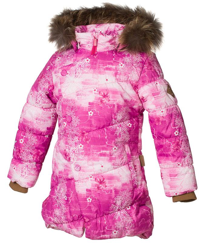 Куртка для девочки Huppa Rosa 1, цвет: фуксия. 17910130-71363. Размер 15817910130-71363Теплая куртка для девочки Huppa идеально подойдет для ребенка в холодное время года. Куртка изготовлена из 100% полиэстера. Вес утеплителя - 300 г.Куртка с капюшоном застегивается на пластиковую застежку-молнию и кнопки. Капюшон, декорированный мехом, защитит нежные щечки от ветра. Предусмотрены светоотражающие элементы для безопасности ребенка в темное время суток.