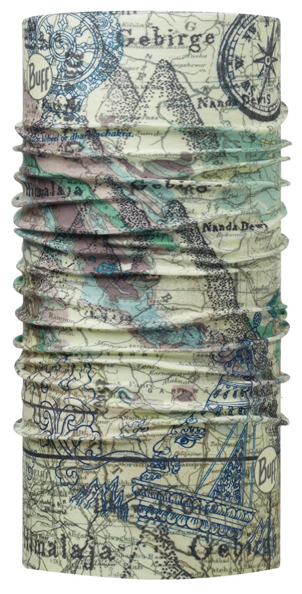 Бандана Buff Original Gebirge Green-Green-Standard, цвет: хаки. 113043.845.10.00. Размер универсальный113043.845.10.00Buff - это оригинальные, мультифункциональные, бесшовные головные уборы - удобные и комфортные для любого вида активного отдыха и спорта. Оригинальные, потому что Buff был и является первым в мире брендом мультифункциональных, бесшовных и универсальных головных уборов. Мультифункциональные, потому что их можно носить самыми разными способами: как шарф, как шапку, как балаклаву, косынку, бандану, маску, напульсник и многими другими - решает Ваша фантазия! Универсальный головной убор, который можно носить более чем двенадцатью способами, который можно использовать при занятии любым видом спорта, езде на велосипеде и мотоцикле, катаясь или бегая на лыжах, и даже как аксессуар в городской одежде. Бесшовные, благодаря эластичности, позволяющей использовать эти головные уборы как угодно и не беспокоиться о том, что кожа может быть натерта или раздражена швами.