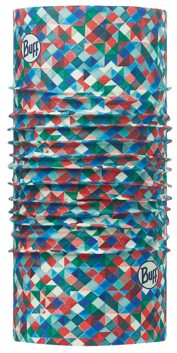 Бандана Buff Original Harlekin Multi-Multi-Standard, цвет: голубой. 113044.555.10.00. Размер универсальный113044.555.10.00Buff - это оригинальные, мультифункциональные, бесшовные головные уборы - удобные и комфортные для любого вида активного отдыха и спорта. Оригинальные, потому что Buff был и является первым в мире брендом мультифункциональных, бесшовных и универсальных головных уборов. Мультифункциональные, потому что их можно носить самыми разными способами: как шарф, как шапку, как балаклаву, косынку, бандану, маску, напульсник и многими другими - решает Ваша фантазия! Универсальный головной убор, который можно носить более чем двенадцатью способами, который можно использовать при занятии любым видом спорта, езде на велосипеде и мотоцикле, катаясь или бегая на лыжах, и даже как аксессуар в городской одежде. Бесшовные, благодаря эластичности, позволяющей использовать эти головные уборы как угодно и не беспокоиться о том, что кожа может быть натерта или раздражена швами.