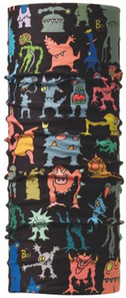 Бандана Buff Original Mutants, цвет: черный. 810011. Размер универсальный810011Buff - это оригинальные, мультифункциональные, бесшовные головные уборы - удобные и комфортные для любого вида активного отдыха и спорта. Оригинальные, потому что Buff был и является первым в мире брендом мультифункциональных, бесшовных и универсальных головных уборов. Мультифункциональные, потому что их можно носить самыми разными способами: как шарф, как шапку, как балаклаву, косынку, бандану, маску, напульсник и многими другими - решает Ваша фантазия! Универсальный головной убор, который можно носить более чем двенадцатью способами, который можно использовать при занятии любым видом спорта, езде на велосипеде и мотоцикле, катаясь или бегая на лыжах, и даже как аксессуар в городской одежде. Бесшовные, благодаря эластичности, позволяющей использовать эти головные уборы как угодно и не беспокоиться о том, что кожа может быть натерта или раздражена швами. Размер (обхват головы): 50-55 см.