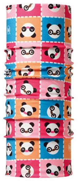 Бандана детская Buff Original Panda, цвет: розовый. 30193. Размер универсальный30193Buff - это оригинальные, мультифункциональные, бесшовные головные уборы - удобные и комфортные для любого вида активного отдыха и спорта. Оригинальные, потому что Buff был и является первым в мире брендом мультифункциональных, бесшовных и универсальных головных уборов. Мультифункциональные, потому что их можно носить самыми разными способами: как шарф, как шапку, как балаклаву, косынку, бандану, маску, напульсник и многими другими - решает Ваша фантазия! Универсальный головной убор, который можно носить более чем двенадцатью способами, который можно использовать при занятии любым видом спорта, езде на велосипеде и мотоцикле, катаясь или бегая на лыжах, и даже как аксессуар в городской одежде. Бесшовные, благодаря эластичности, позволяющей использовать эти головные уборы как угодно и не беспокоиться о том, что кожа может быть натерта или раздражена швами. Размер (обхват головы): 45-51 см.