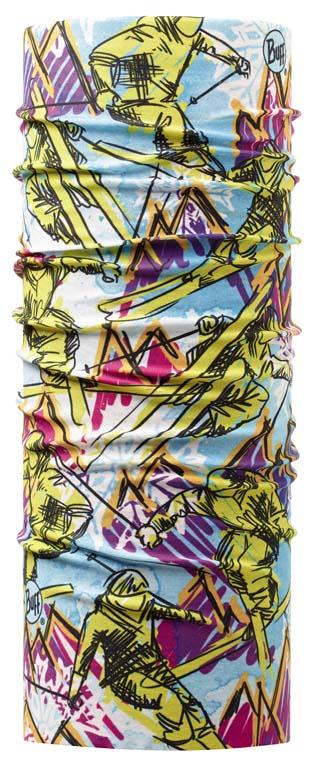 Бандана Buff Original Sketch, цвет: голубой. 111282.00. Размер универсальный111282.00Buff - это оригинальные, мультифункциональные, бесшовные головные уборы - удобные и комфортные для любого вида активного отдыха и спорта. Оригинальные, потому что Buff был и является первым в мире брендом мультифункциональных, бесшовных и универсальных головных уборов. Мультифункциональные, потому что их можно носить самыми разными способами: как шарф, как шапку, как балаклаву, косынку, бандану, маску, напульсник и многими другими - решает ваша фантазия! Универсальный головной убор, который можно носить более чем двенадцатью способами, который можно использовать при занятии любым видом спорта, езде на велосипеде и мотоцикле, катаясь или бегая на лыжах, и даже как аксессуар в городской одежде. Бесшовные, благодаря эластичности, позволяющей использовать эти головные уборы как угодно и не беспокоиться о том, что кожа может быть натерта или раздражена швами. Размер (обхват головы): 50-55 см.