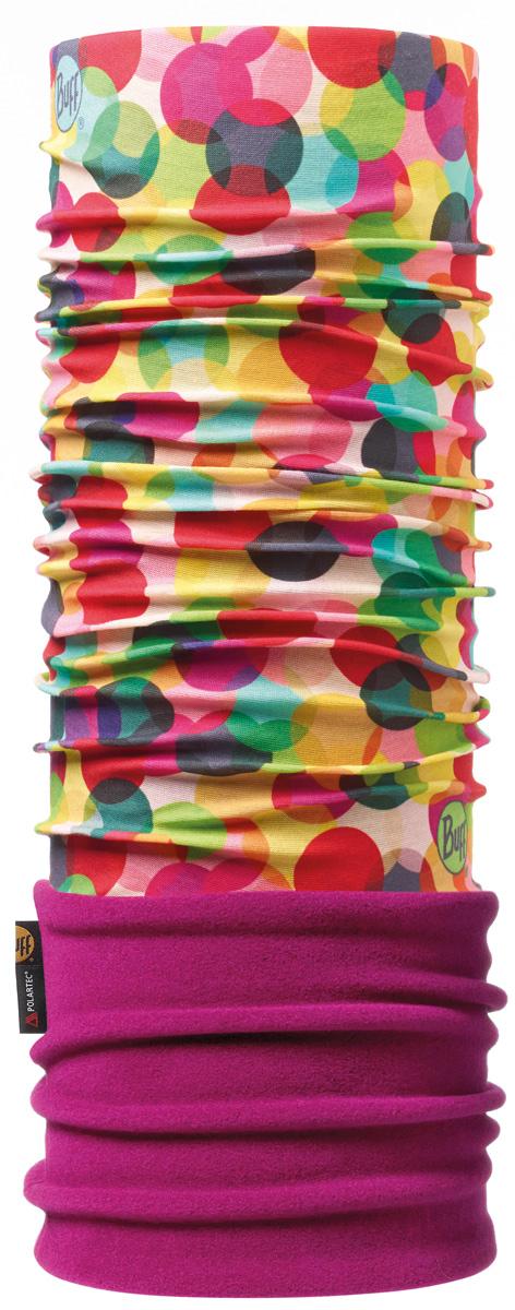 Бандана Buff Polar Blobs / Mardi Grape, цвет: розовый. 111292.00. Размер универсальный111292.00Теплая бандана-шарф Polar Buff - это бандана-труба из серии Original Buff, пришитая к цилиндру из Polartec Classic Fleece 100. В холодную погоду Polar Buff поддерживает нормальную температуру тела и предотвращает потерю тепла, благодаря комбинации микрофибры и Polartec. Благодаря своей универсальности, функциональности и практичности Polar Buff завоевал огромную популярность среди людей, ее можно использовать как шапку, шарф, бандану на лицо и уши, балаклаву, маску. Неотъемлемая часть зимней одежды, подходит для любой активности в холодное время года. Размер (обхват головы): 50-55 см.