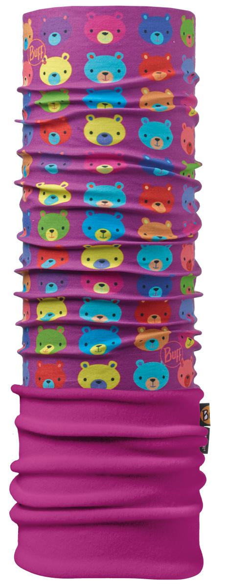 Бандана детская Buff Polar Teddy / Mardi Grape, цвет: фиолетовый. 111276.00. Размер универсальный111276.00Теплая бандана-шарф Polar Buff. Polar Buff - это бандана-труба из серии Original Buff, пришитая к цилиндру из Polartec Classic Fleece 100 . В холодную погоду Polar Buff поддерживает нормальную температуру тела и предотвращает потерю тепла, благодаря комбинации микрофибры и Polartec. Благодаря своей универсальности, функциональности и практичности Polar Buff завоевал огромную популярность среди людей, ее можно использовать как шапку, шарф, бандану на лицо и уши, балаклаву, маску. Неотъемлемая часть зимней одежды, подходит для любой активности в холодное время года. Размер (обхват головы): 45-47 см.