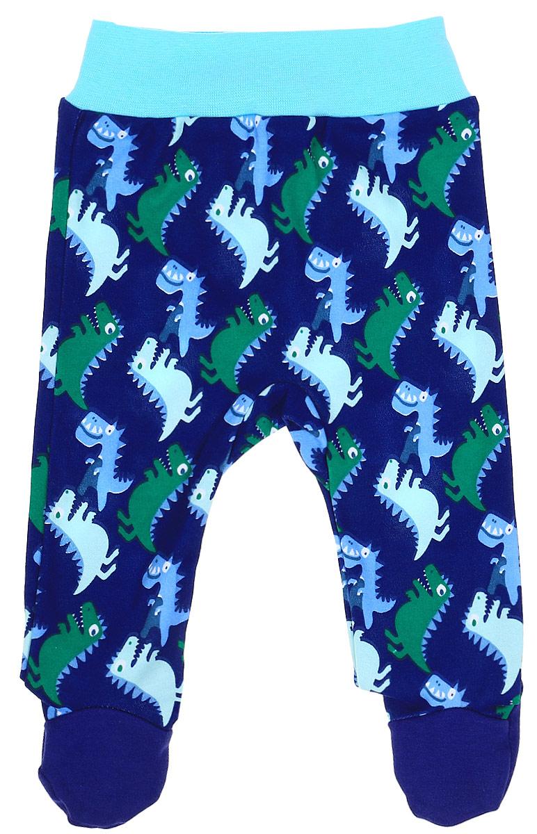 Ползунки КотМарКот Маленький Динозаврик, цвет: темно-синий. 5235. Размер 625235Удобные ползунки с закрытыми ножками КотМарКот Маленький Динозаврик изготовлены из интерлока и оформлены ярким принтом с изображением забавных динозавров. Модель стандартной посадки на поясе имеет широкую эластичную резинку, которая плотно облегает, но не сдавливает животик ребенка.Материал ползунков мягкий и тактильно приятный, не раздражает нежную кожу ребенка и хорошо пропускает воздух. Изделие полностью соответствует особенностям жизни ребенка в ранний период, не стесняя и не ограничивая его в движениях.