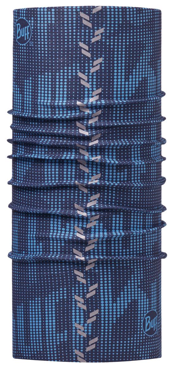 Бандана Buff Reflective Buff R-Deep Logo Dark Navy, цвет: синий. 113669.790.10.00. Размер универсальный113669.790.10.00Buff - это оригинальные, мультифункциональные, бесшовные головные уборы - удобные и комфортные для любого вида активного отдыха и спорта. Оригинальные, потому что Buff был и является первым в мире брендом мультифункциональных, бесшовных и универсальных головных уборов. Мультифункциональные, потому что их можно носить самыми разными способами: как шарф, как шапку, как балаклаву, косынку, бандану, маску, напульсник и многими другими - решает Ваша фантазия! Универсальный головной убор, который можно носить более чем двенадцатью способами, который можно использовать при занятии любым видом спорта, езде на велосипеде и мотоцикле, катаясь или бегая на лыжах, и даже как аксессуар в городской одежде. Бесшовные, благодаря эластичности, позволяющей использовать эти головные уборы как угодно и не беспокоиться о том, что кожа может быть натерта или раздражена швами.