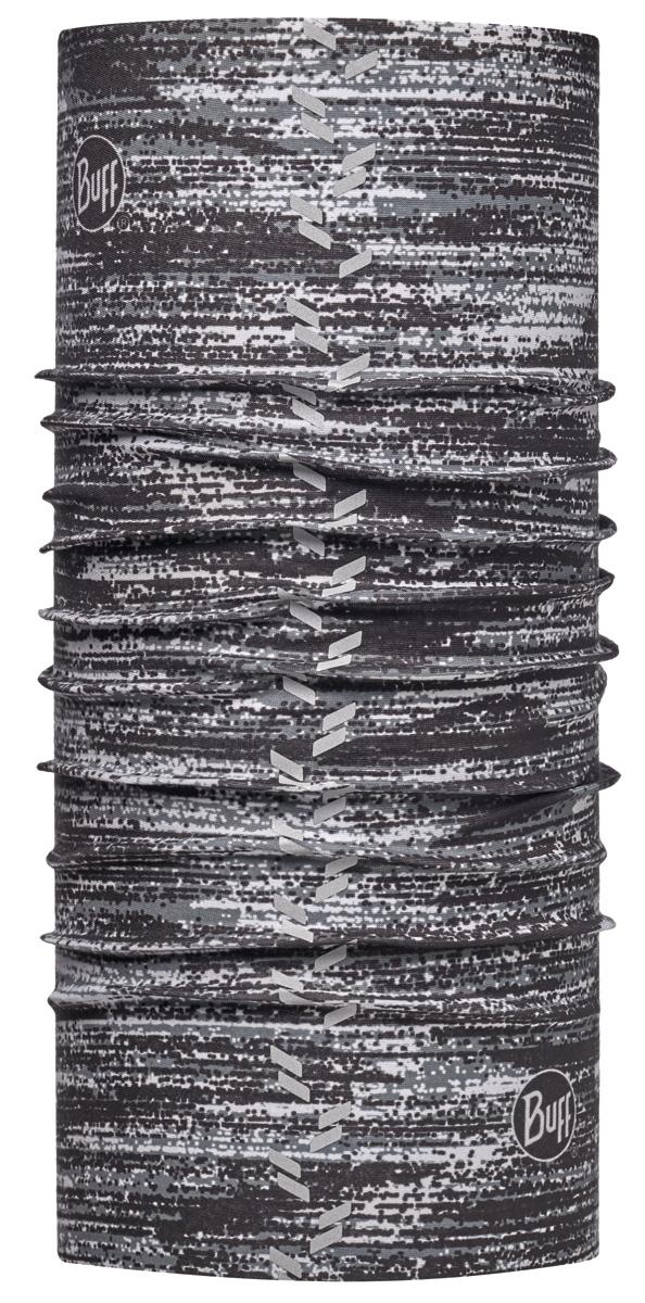 Бандана Buff Reflective R-Interference Gargoyle, цвет: серый. 113670.910.10.00. Размер универсальный113670.910.10.00Buff - это оригинальные, мультифункциональные, бесшовные головные уборы - удобные и комфортные для любого вида активного отдыха и спорта. Оригинальные, потому что Buff был и является первым в мире брендом мультифункциональных, бесшовных и универсальных головных уборов. Мультифункциональные, потому что их можно носить самыми разными способами: как шарф, как шапку, как балаклаву, косынку, бандану, маску, напульсник и многими другими - решает Ваша фантазия! Универсальный головной убор, который можно носить более чем двенадцатью способами, который можно использовать при занятии любым видом спорта, езде на велосипеде и мотоцикле, катаясь или бегая на лыжах, и даже как аксессуар в городской одежде. Бесшовные, благодаря эластичности, позволяющей использовать эти головные уборы как угодно и не беспокоиться о том, что кожа может быть натерта или раздражена швами.