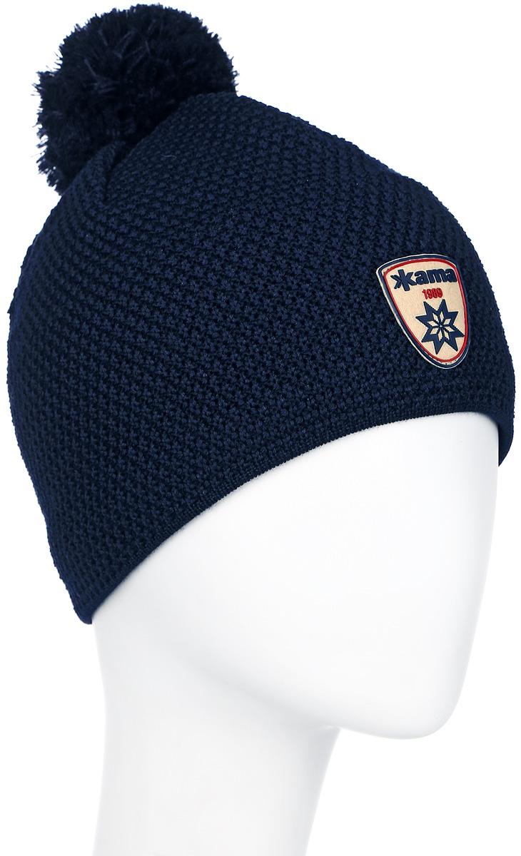 Шапка Kama Fashion Beanies, цвет: синий. A91_108. Размер универсальныйA91_108Теплая шапка с помпоном, с внутренней стороны изделия флисовая повязка для лучшего сохранения тепла. Оформлена помпоном.