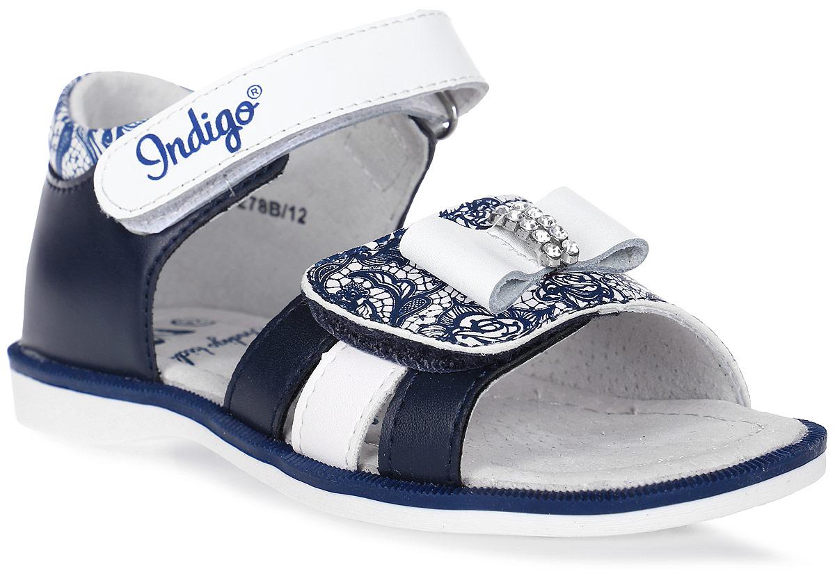 Сандалии для девочки Indigo Kids, цвет: синий. 21-278B/12. Размер 3121-278B/12Модные сандалии от Indigo Kids очень удобны и невероятно легки, они придутся по душе вашей девочке и идеально подойдут для повседневной носки в летнюю погоду! Модель выполнена из натуральной и искусственной кожи, оформлена ремешком с застежкой на липучке, позволяющей регулировать обхват по размеру. Каждое движение в этой обуви приносит радость и удовольствие.