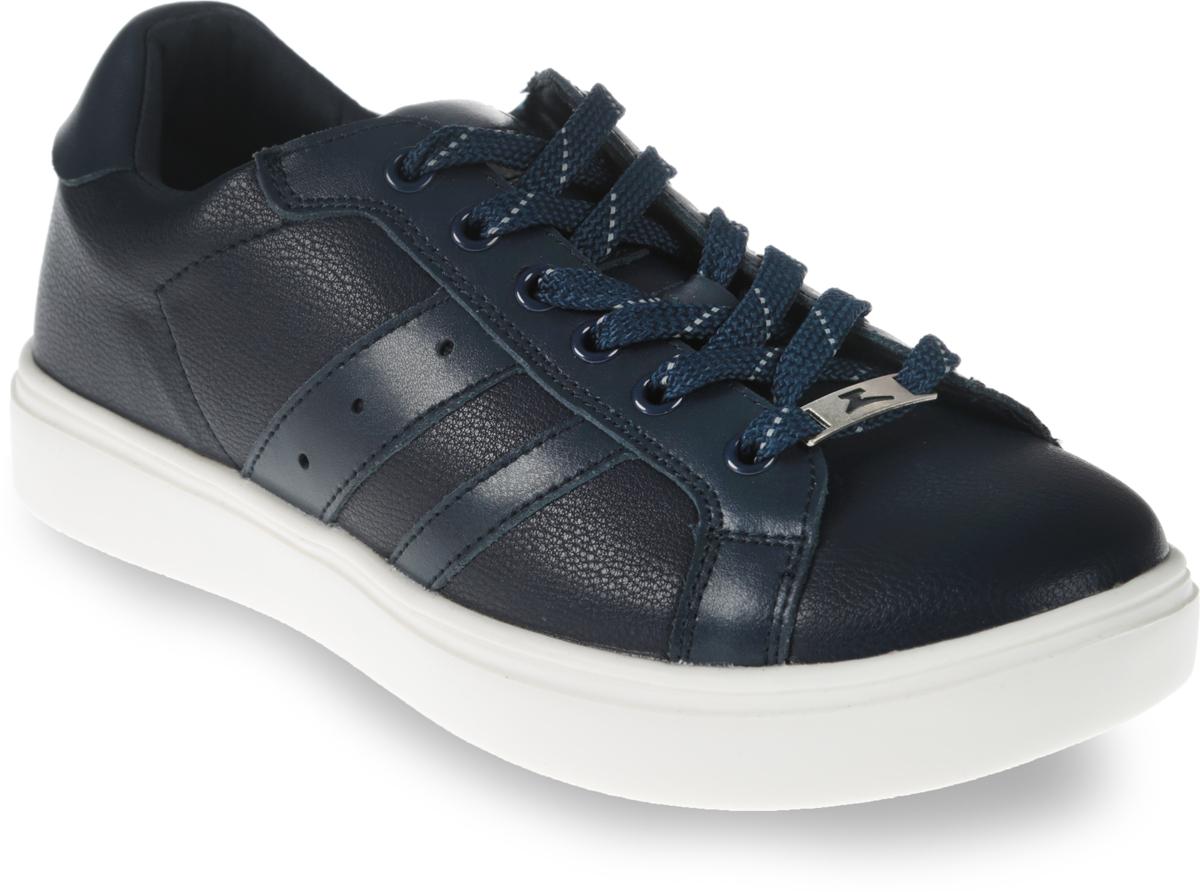Кеды для мальчика Зебра, цвет: темно-синий. 11945-1. Размер 3911945-1Стильные кеды от бренда Зебра займут достойное место среди коллекции обуви вашего мальчика. Модель выполнена из комбинации натуральной и искусственной кожи. Подъем дополнен шнуровкой, которая надежно зафиксирует обувь на ноге. Внутренняя поверхность из текстиля и стелька, изготовленная из натуральной кожи, обеспечат ногам комфорт и уют. Подошва из легкого ТЭП-материала с рифлением гарантирует отличное сцепление с любой поверхностью. Модные кеды придутся по душе вашему мальчику.