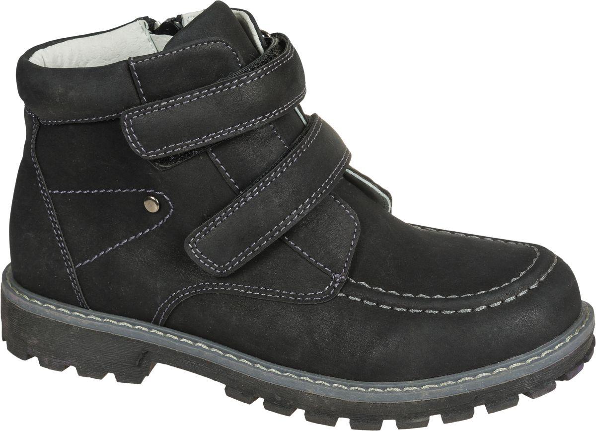 Ботинки для мальчика Mursu, цвет: черный. 202115. Размер 37202115Стильные ботинки от Mursu придутся по душе вашему юному моднику. Модель выполнена из искусственной кожи. Ремешки на липучках надежно зафиксируют ботинки на ноге. Подкладка и стелька из шерсти гарантируют тепло и комфорт при носке. Гибкая мягкая подошва обеспечивает идеальное сцепление с разными поверхностями.