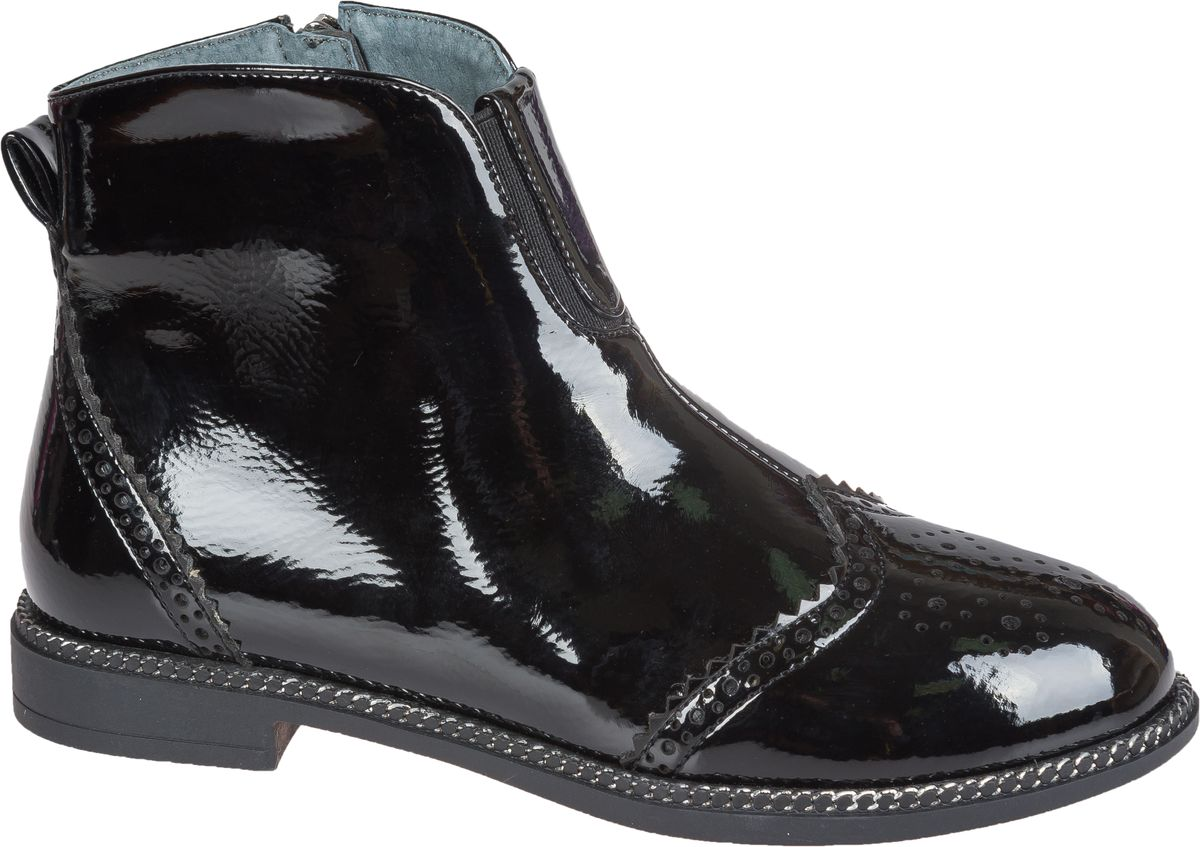 Ботинки для девочки Mursu, цвет: черный. 202267. Размер 34202267Стильные ботинки от Mursu придутся по душе вашей юной моднице. Модель выполнена из искусственной лаковой кожи. Молния, расположенная сбоку,надежно зафиксирует ботинки на ноге. Подкладка и стелька из шерсти гарантируют тепло и комфорт при носке. Гибкая мягкая подошва обеспечивает идеальное сцепление с разными поверхностями.