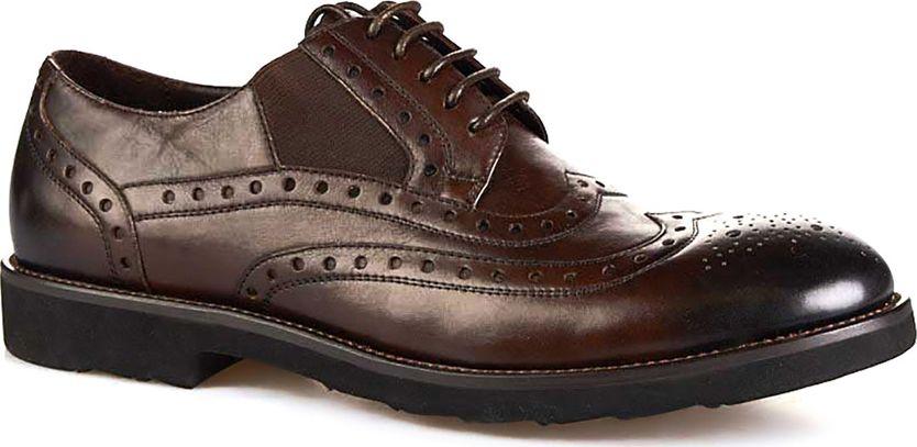 Броги мужские Vitacci, цвет: коричневый. M113033. Размер 45M113033Мужские броги от Vitacci на квадратном каблуке выполнены из натуральной кожи с перфорацией. На ноге модель фиксируется при помощи шнуровки. Подкладка и стелька из натуральной кожи гарантируют комфорт при носке. Гибкая, мягкая и легкая подошва, выполненная из ТЭП-материала, долговечна и обеспечивает высокую устойчивость к деформациям.