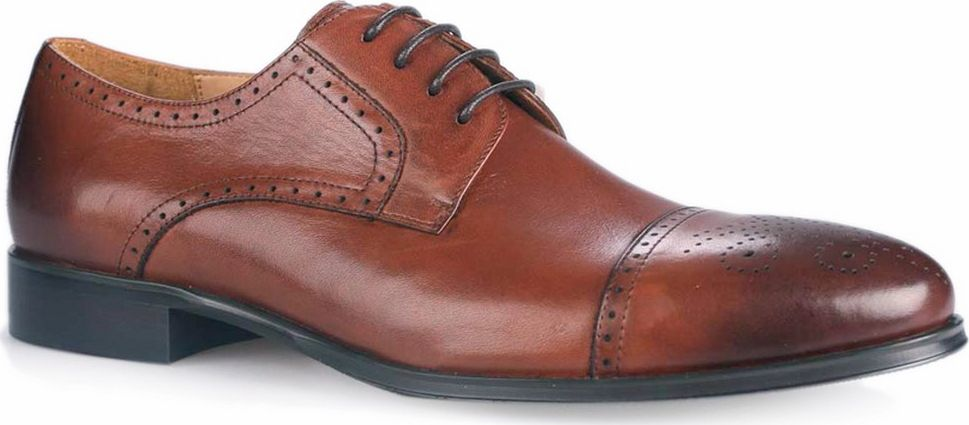 Броги мужские Vitacci, цвет: коричневый. M24230. Размер 41M24230Мужские броги от Vitacci на квадратном каблуке выполнены из натуральной кожи с перфорацией. На ноге модель фиксируется при помощи шнуровки. Подкладка и стелька из натуральной кожи гарантируют комфорт при носке. Гибкая, мягкая и легкая подошва, выполненная из ТЭП-материала, долговечна и обеспечивает высокую устойчивость к деформациям.