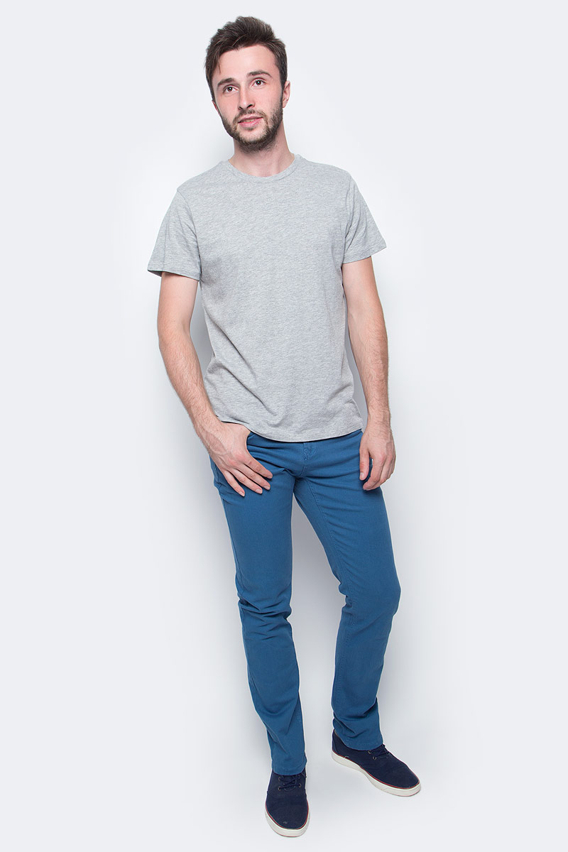 Футболка мужская Sela, цвет: серый меланж. Ts-211/276-7340. Размер S (46)Ts-211/276-7340