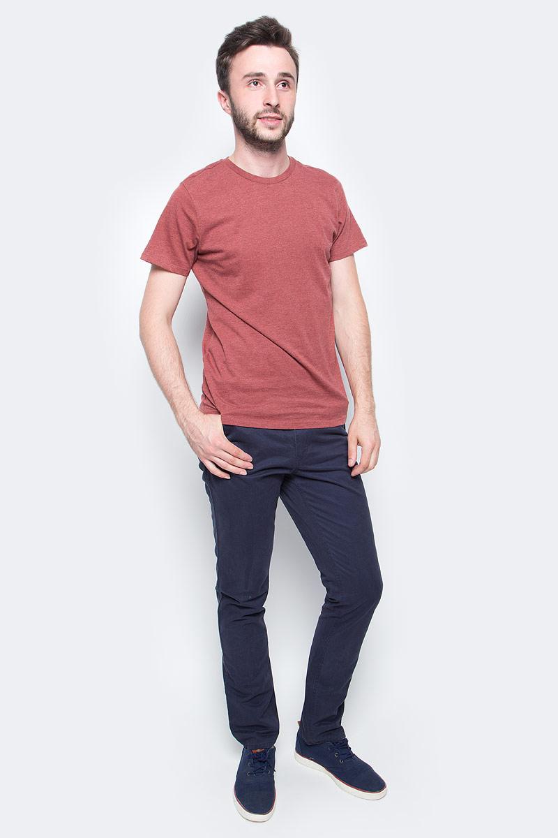 Футболка муж Sela, цвет: коричнево-бордовый. Ts-211/276-7340. Размер M (48)Ts-211/276-7340