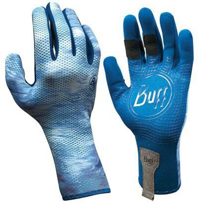 Перчатки рыболовные Buff MXS Pelagic, цвет: голубой. 15244. Размер L/XL (8-8,5)MXS PelagicТехнологичные рыболовные перчатки MXS Pelagic выполнены из стрейчевой ткани, комфортно облегающей кисть руки. Ладонь перчатки покрыта силиконовым принтом. Перчатки защищают от проникновения влаги и физических повреждений кожи. Полностью закрытые пальцы обеспечивают лучшую защиту. Фактор защиты от солнца UPF 50+. Перчатки имеют удлиненную манжету.