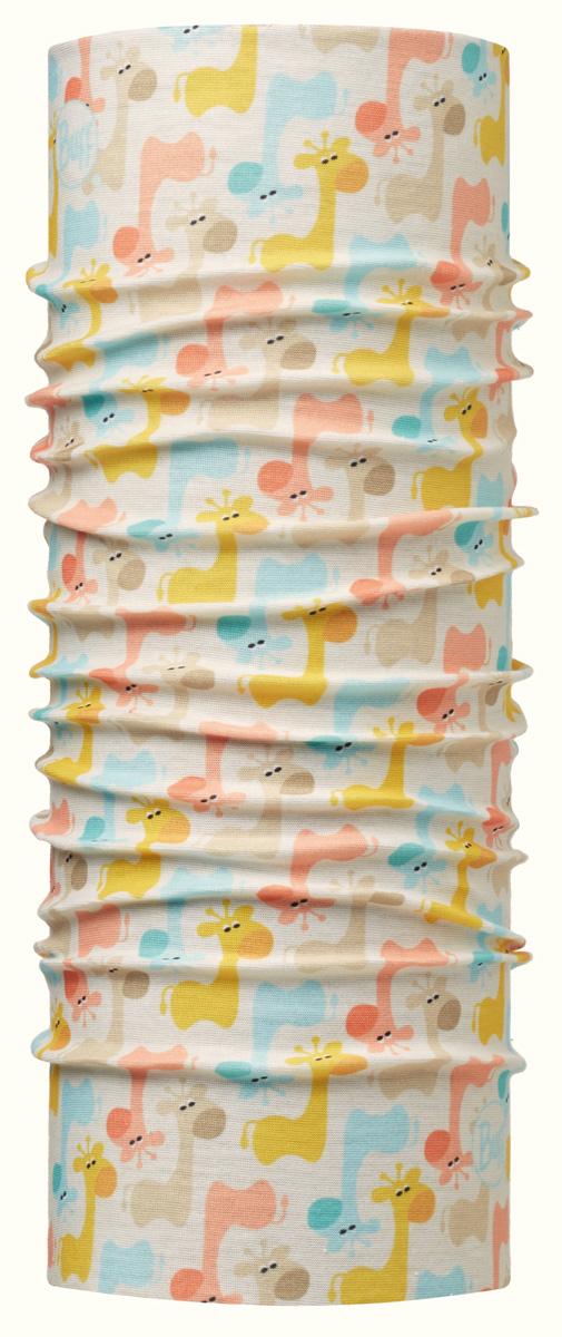 Шарф детский Buff Original Baby Giraffe Multi, цвет: кремовый. 113402.555.10.00. Размер универсальный113402.555.10.00Идеально подходит для детей, которые любят носить многофункциональные и легкие вещи. Buff можно использовать круглый год для защиты от холода. Дети могут легко носить его с собой в кармане или рюкзаке.Особенности:- высокая эластичность, отсутствие швов, многофункциональная трубчатая форма, 100% микрофибра;- хорошая воздухопроницаемость и отведение влаги;- доступны размеры для самых маленьких;- 100% полиэстер, микрофибра.