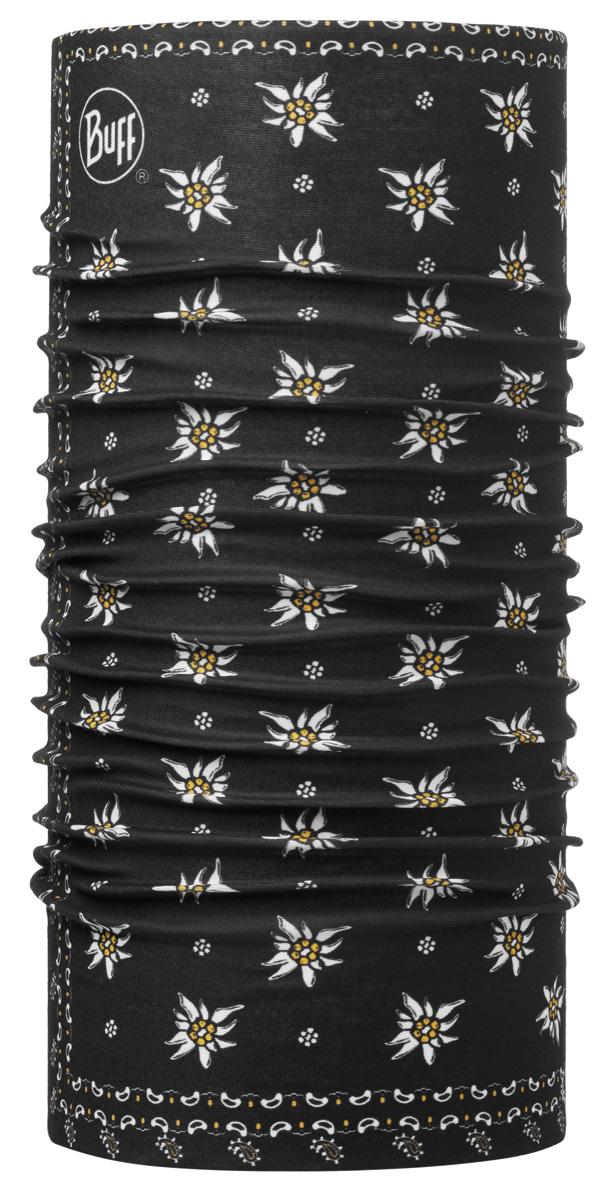 Шарф Buff Original Weis Black, цвет: черный. 113032.999.10.00. Размер универсальный113032.999.10.00Buff - это оригинальные, мультифункциональные, бесшовные головные уборы - удобные и комфортные для любого вида активного отдыха и спорта. Оригинальные, потому что Buff был и является первым в мире брендом мультифункциональных, бесшовных и универсальных головных уборов. Мультифункциональные, потому что их можно носить самыми разными способами: как шарф, как шапку, как балаклаву, косынку, бандану, маску, напульсник и многими другими - решает Ваша фантазия! Универсальный головной убор, который можно носить более чем двенадцатью способами, который можно использовать при занятии любым видом спорта, езде на велосипеде и мотоцикле, катаясь или бегая на лыжах, и даже как аксессуар в городской одежде. Бесшовные, благодаря эластичности, позволяющей использовать эти головные уборы как угодно и не беспокоиться о том, что кожа может быть натерта или раздражена швами.