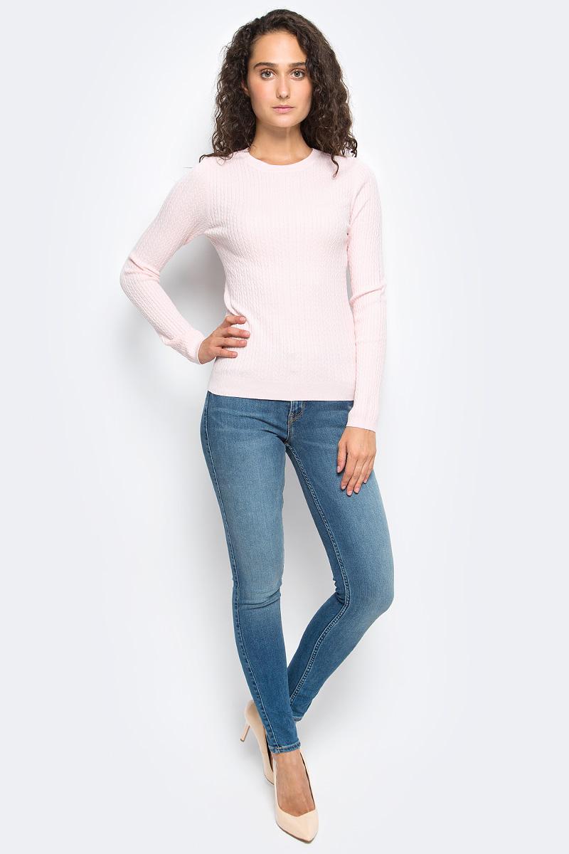 Джемпер жен Sela, цвет: пастельно-розовый. JR-114/1221-7390. Размер L (48)JR-114/1221-7390