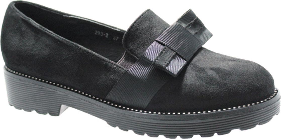 Туфли женские Camidy, цвет: черный. 293-2. Размер 38293-2Стильные женские туфли Camidy - отличный вариант на каждый день. Модель выполнена из искусственной кожи. Изделие оснащено удобным каблуком.Ультрамодные туфли не оставят вас незамеченной!