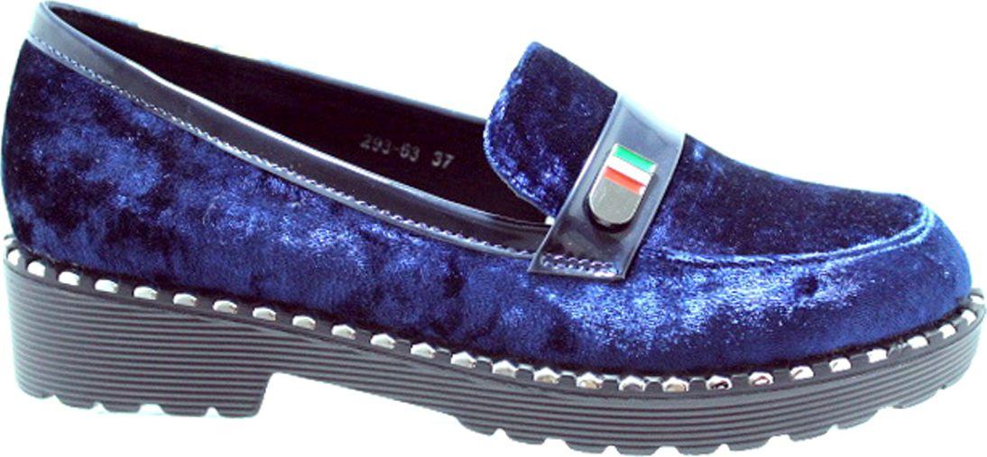 Туфли женские Camidy, цвет: синий. 293-63. Размер 35293-63Стильные женские туфли Camidy - отличный вариант на каждый день. Модель выполнена из искусственной кожи. Изделие оснащено удобным каблуком.Ультрамодные туфли не оставят вас незамеченной!