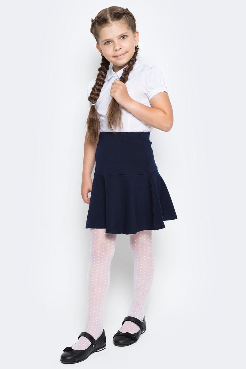 Блузка для девочки Sela, цвет: белый. Bs-612/863-7320. Размер 146, 11 летBs-612/863-7320Классическая блузка Sela для девочки выполнена из высококачественного материала. Модель с отложным воротником и короткими рукавами застегивается на пуговицы. Рукава дополнены эластичными вставками.