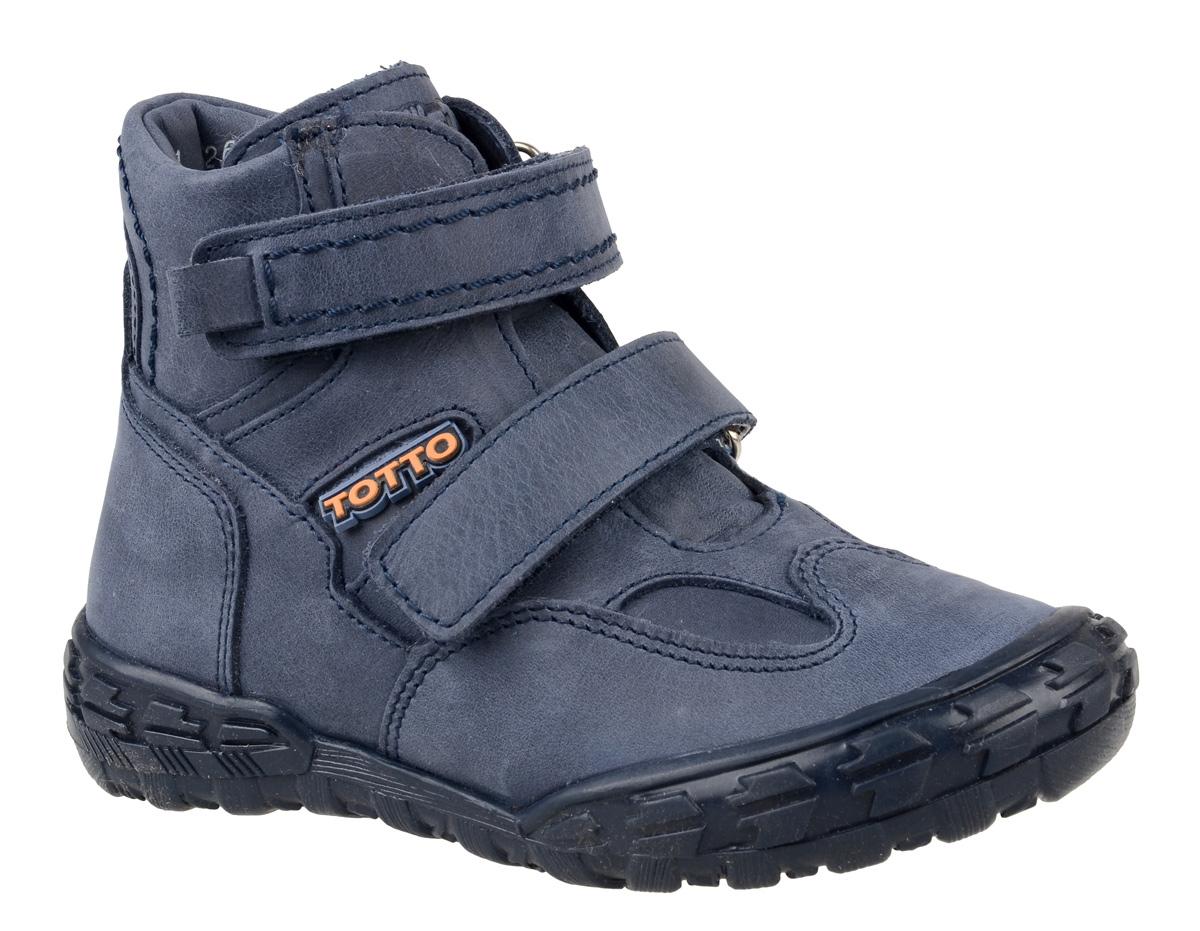 Ботинки для мальчика Тотто, цвет: синий. 211-БП. Размер 30211-БПБотинки для мальчика Тотто - это ортопедическая обувь, которая помогает правильному формированию стопы ребенка. Такая обувь необходима в детском возрасте для коррекции стоп при плоскостопии и вальгусной деформации, а также для профилактики этих состояний. Она обеспечивает правильное распределение нагрузки на передний отдел стопы и пятку, за счет чего малыш лучше удерживает равновесие и чувствует себя более уверенно. Обувь Тотто идеально подходит для детей, которые только начали ходить.Верх ботинок выполнен из натуральной кожи. Подошва изготовлена из легкого, гибкого и прочного термопластичного материала, она смягчает удары от соприкосновения обуви с поверхностью, защищая детскую ножку от травм. Протектор подошвы обеспечивает надежное сцепление с землей или асфальтом. Внутренняя поверхность и стелька отделаны байкой. Ботинки застегиваются с помощью ремешков на липучки, благодаря которым можно регулировать объем обуви. Весь модельный ряд Тотто характеризует: плотный захват голеностопа, мягкие нейтрализующие швы, жесткий задник продлен до середины стопы, стельки со сводоподдерживающим эффектом, натуральная кожа.