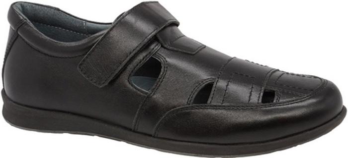 Полуботинки для мальчика Зебра, цвет: черный. 11809-1. Размер 3511809-1Стильные полуботинки от бренда Зебра займут достойное место среди коллекции обуви вашего мальчика. Модель выполнена из гладкой натуральной кожи с декоративной прострочкой и перфорацией. Подъем дополнен ремешком с липучкой, которая надежно зафиксирует обувь на ноге. Внутренняя поверхность и стелька, изготовленные из натуральной кожи, обеспечат ногам комфорт и уют. Подошва из легкого ТЭП-материала с рифлением гарантирует отличное сцепление с любой поверхностью. Модные полуботинки придутся по душе вашему мальчику.