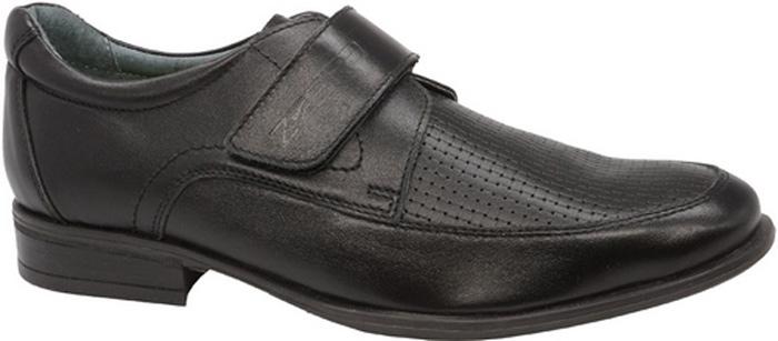 Полуботинки для мальчика Зебра, цвет: черный. 11837-1. Размер 4011837-1Стильные полуботинки от бренда Зебрар займут достойное место среди коллекции обуви вашего мальчика. Модель выполнена из натуральной кожи. Подъем дополнен ремешком с липучкой, которая надежно зафиксирует обувь на ноге. Внутренняя поверхность и стелька, изготовленные из натуральной кожи, обеспечат ногам комфорт и уют. Подошва из легкого ТЭП-материала с рифлением гарантирует отличное сцепление с любой поверхностью. Модные полуботинки придутся по душе вашему мальчику.