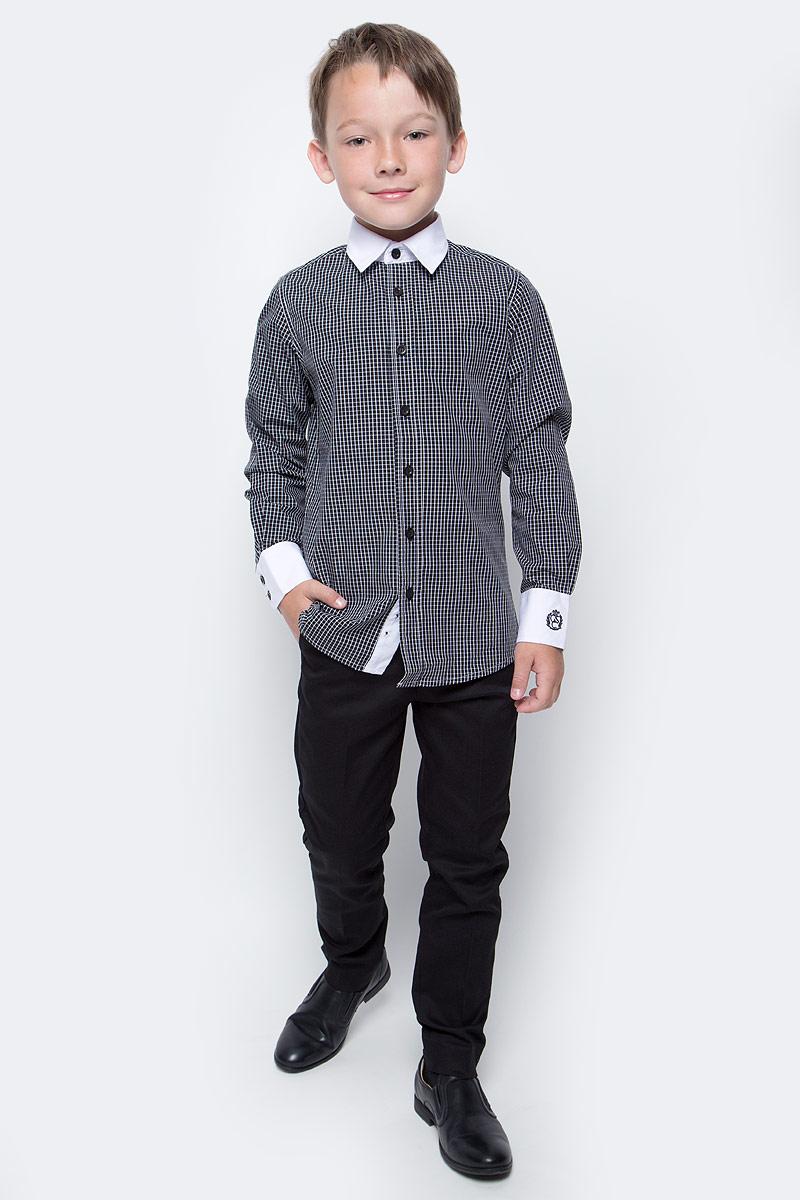Брюки для мальчика Button Blue, цвет: черный. 217BBBS63020800. Размер 134, 9 лет217BBBS63020800Школьные брюки от Button Blue - основа повседневного гардероба ученика. Брюки для школы практичны, хорошо сидят, не мешают свободе движений, обеспечивая ежедневный комфорт.